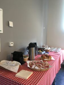 Breakfast catering during corporate events